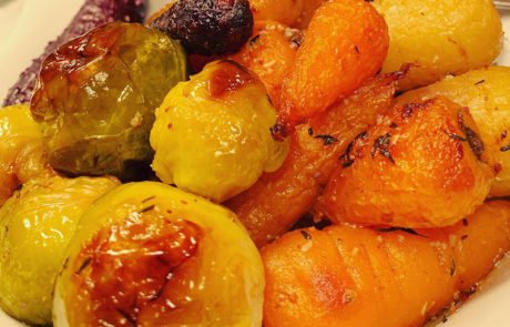 festive christmas roasted vegetables